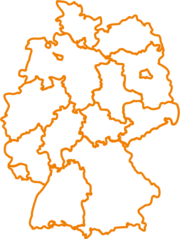 Karte Bundesrepublik Deutschland