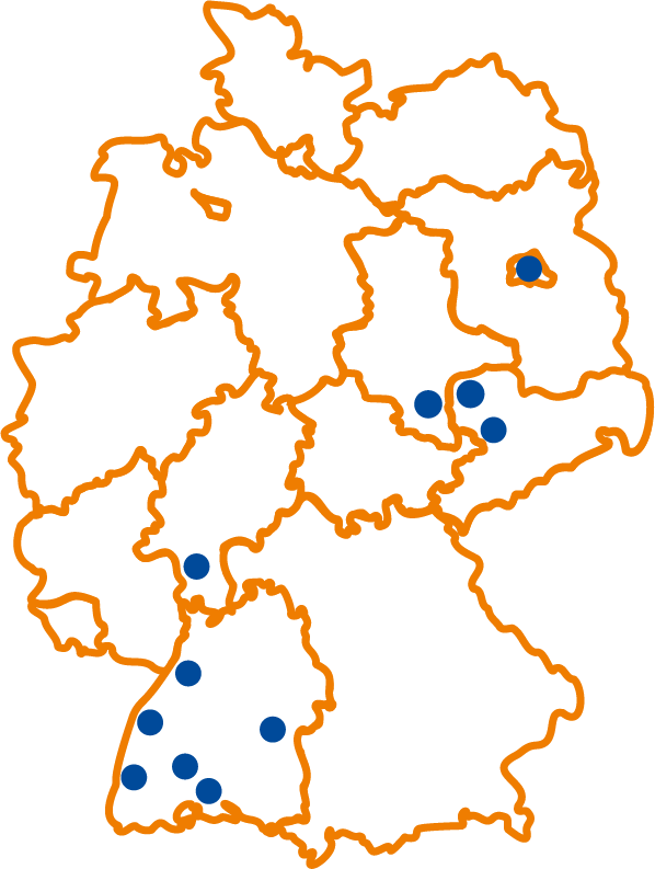 Standorte der Paul Becker GmbH