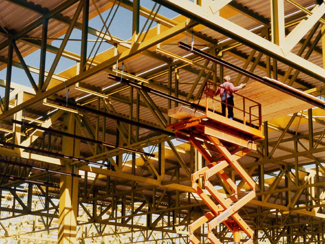 1984 – BECKER unterstützt große Bauvorhaben