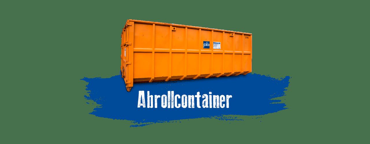 Abrollcontainer mieten bei BECKER