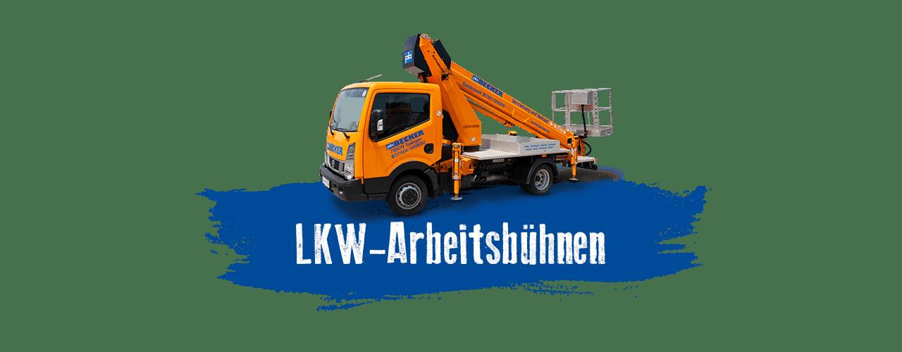 LKW-Arbeitsbühnen mieten bei BECKER