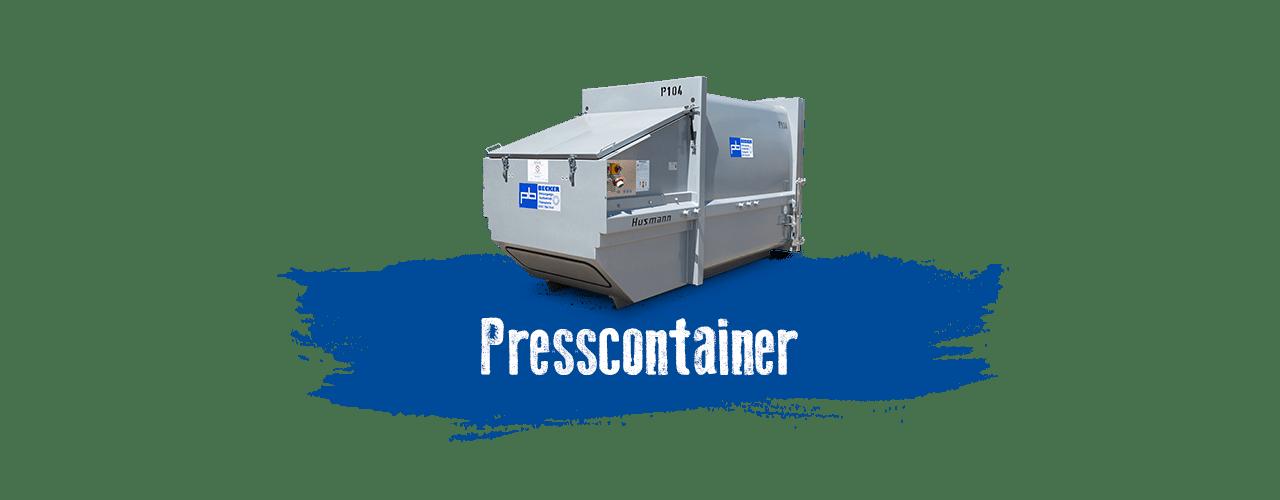 Presscontainer mieten bei BECKER
