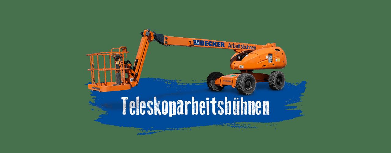 Teleskoparbeitsbühnen mieten bei BECKER
